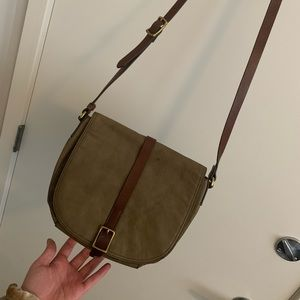 Green Fossil Crossbody Purse